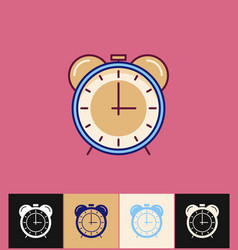 clock icon flat blue simple vector image vector image
