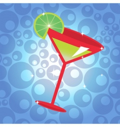 cocktail with lemon vector image