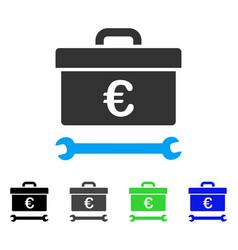 euro toolbox flat icon vector image