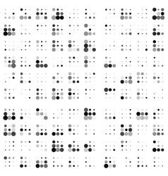 Grunge random halftones background vector image vector image