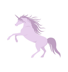 silhouette unicorn image vector image vector image