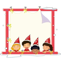 4 kids vector image vector image