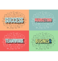 Business Success and Marketing Strategy concept vector image vector image