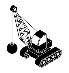 demolish truck icon simple style vector image