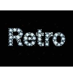 Diamond word Retro vector image vector image