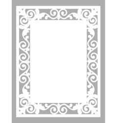 laser cut card vector image