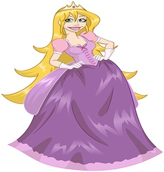 Princess Rapunzel In Pink Dress vector image