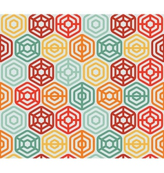 seamless pattern with hexagons - vector image vector image