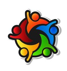 Team Hi5 with black background Logo design element vector image