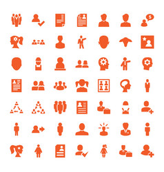 49 profile icons vector image