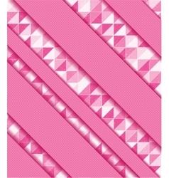 Abstract colorful mosaic and ribbons vector image