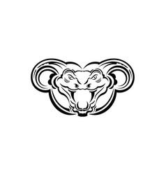 Anaconda snake art for tattoo logo label sign vector