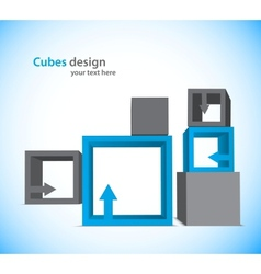Background with cubes vector image