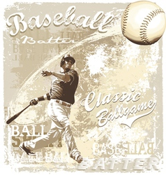 batting baseball vector image