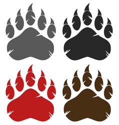 bear paw logo design collection - 2 vector image