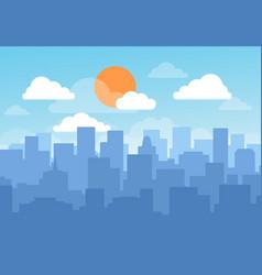 blue sky cityscape vector image