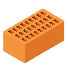 brick icon isometric 3d style vector image
