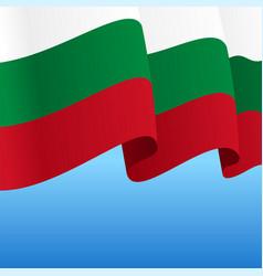 Bulgarian flag wavy abstract background vector