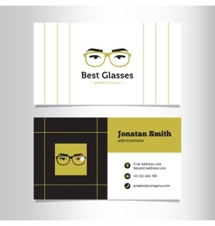 Business card template with glass store vector