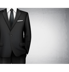 Businessman suit background vector