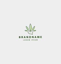 Cannabis chat talk logo icon vector