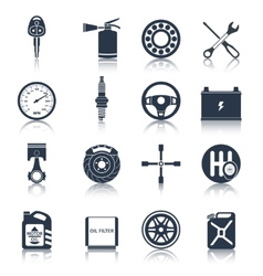 Car parts icons black vector image