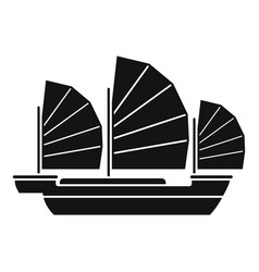 China ship icon simple style vector