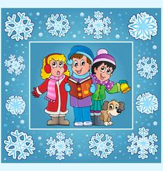 Christmas thematics greeting card 9 vector