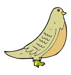 Comic cartoon common bird vector