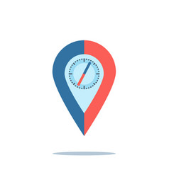 compass map pin vector image