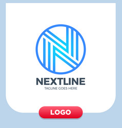 creative letter n logo design template linear vector image