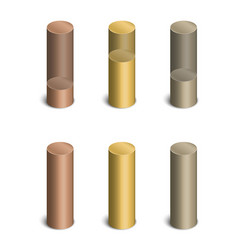 cylindrical bars vector image