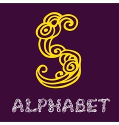 Doodle hand drawn sketch alphabet Letter S vector