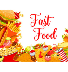 Fast food restaurant cafe poster vector