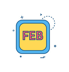 february calender icon design vector image