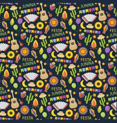 festa junina flat seamless pattern vector image
