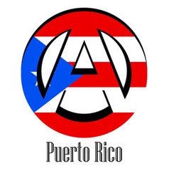 flag of puerto rico of the world in the form of a vector image
