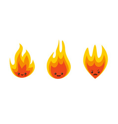flame characters vector image