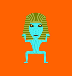 Flat on background of mummy halloween monster vector