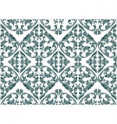 floral damask vector image vector image