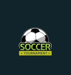 football soccer tournament vector image