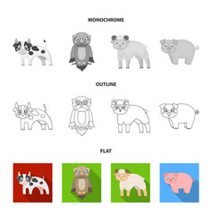 Forest ecology toys and other web icon in flat vector