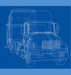 garbage truck concept vector image