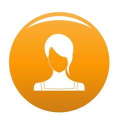 Girl avatar icon orange vector