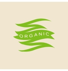 Green Zigzag Organic Product Logo vector