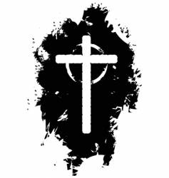 grunge Christian cross vector image