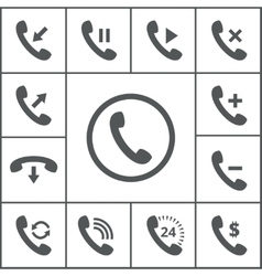 Handset icons vector
