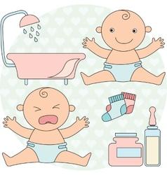 Happy child vector
