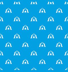 Hiking pavilion pattern seamless blue vector