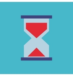 Hourglass flat isolated icon vector